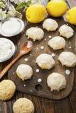 Lemon glaze cookies stock photography