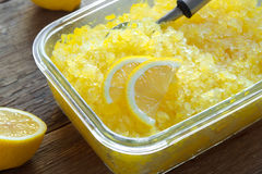 Lemon Granita Royalty Free Stock Image