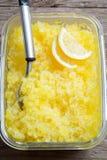 Lemon Granita Stock Photo