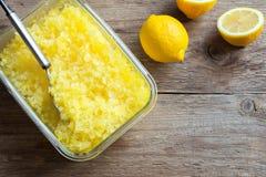 Lemon Granita Stock Images