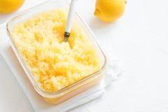 Lemon Granita Royalty Free Stock Photos