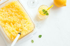 Lemon Granita Royalty Free Stock Photography