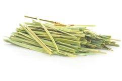 Lemon grass (Cymbopogon). Bundle of lemon grass isolated on white background Royalty Free Stock Image