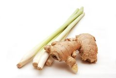 Lemon grass and ginger Royalty Free Stock Photos