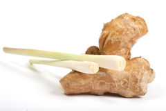 Lemon grass and root ginger Royalty Free Stock Photo