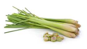 Lemon grass on white background Stock Images