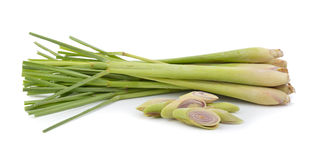 Lemon grass on white background Royalty Free Stock Photo