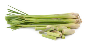 Lemon grass on white background Stock Images