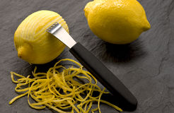 Lemon with a grater Stock Photography