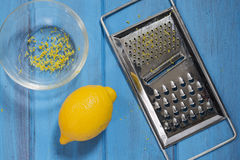 Lemon and grater Royalty Free Stock Photography