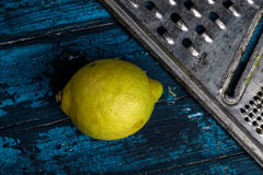 Lemon and Grater Stock Photography