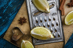 Lemon and Grater Stock Photos
