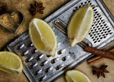 Lemon and Grater Royalty Free Stock Photo