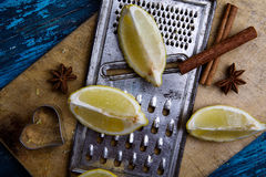 Lemon and Grater Stock Image