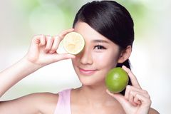 Lemon is great for health Royalty Free Stock Images