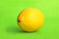 Lemon on green Royalty Free Stock Images