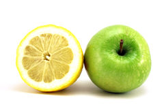 Lemon and green apple Stock Photo