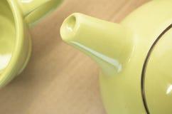 Lemon green teapot spout Stock Image