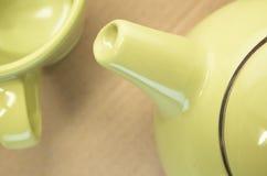 Lemon green teapot spout Stock Photos