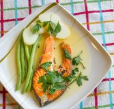 Lemon Grilled Salmon Stock Images