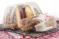 Lemon gugelhupf with icing sugar Stock Image