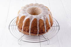 Lemon gugelhupf with icing sugar Royalty Free Stock Photo