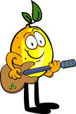Lemon guitar player Royalty Free Stock Images