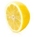 Lemon half isolated on a white background Stock Photos