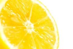 Lemon half isolated on white background Stock Photos