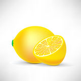 Lemon and half of lemon Stock Photos