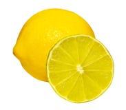 Lemon and half of lime Stock Photo