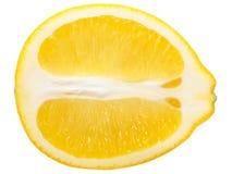 Lemon half slice, paths stock images
