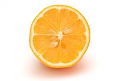 Lemon half sliced on white background  object illustration Stock Image