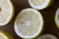 Lemon Half Top View Stock Photos