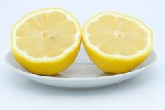 Lemon halves stock photography