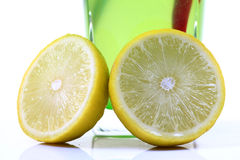 Lemon halves Stock Photography
