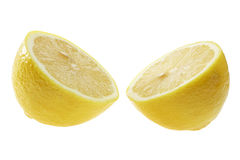 Lemon in Halves Stock Photo
