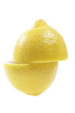 Lemon in Halves Royalty Free Stock Photography