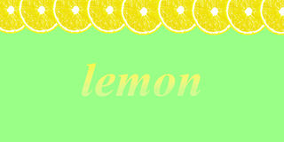 Lemon halves background with space for text on a white Stock Images
