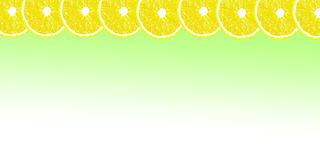 Lemon halves background with space for text on a white backgroun Royalty Free Stock Photo