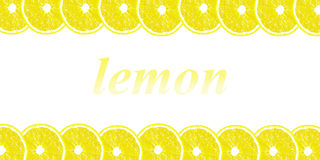 Lemon halves background with space for text on a white backgroun Stock Photography