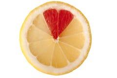 Lemon heart Stock Photo