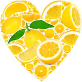 Lemon heart Stock Photos