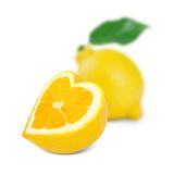 Lemon heart Royalty Free Stock Photos
