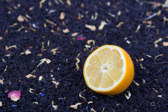Lemon and herbal tea Stock Image