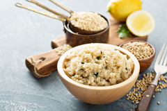 Lemon herbed quinoa in a bowl Royalty Free Stock Photo