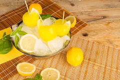 Lemon homemade ice pops Stock Images
