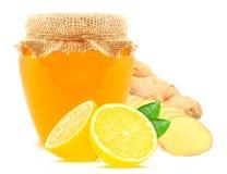 Lemon, honey and ginger Royalty Free Stock Photography