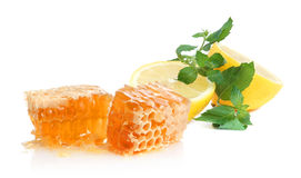 Lemon, honey and mint Royalty Free Stock Images
