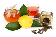 Lemon, honey and tea Royalty Free Stock Photo